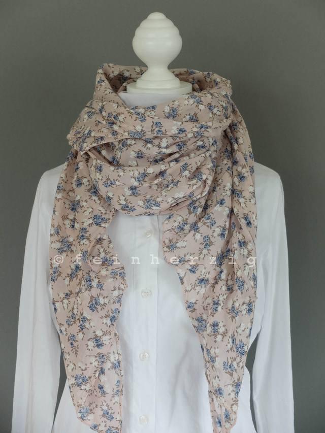 schal seide rosa bl mchen tuch mille fleurs trend auch als loop zu tragen italy ebay. Black Bedroom Furniture Sets. Home Design Ideas