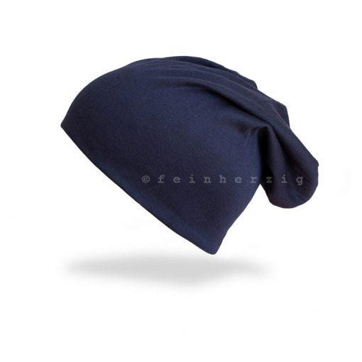 Trendige Beanie Uni in dunkelblau marine. Klassische Beanie Mütze - passend zu vielen Styles