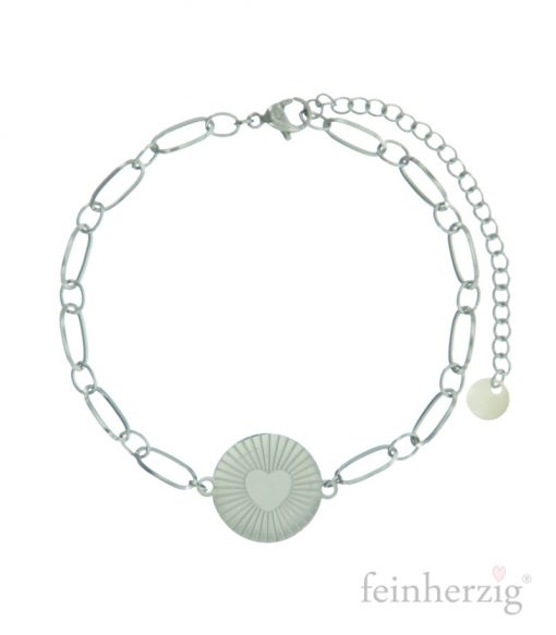 armband-heart-silber
