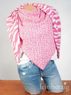 zwillingsherz-dreieckstuch-mit-kaschmir-pink-weiss-leo-und-zebra