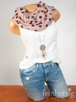 loop-schal-aus-viskose-altrosa-mit-grossen-punkten-dots-feinherzig-basic-collection