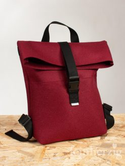 filz-rucksack-bordeaux-rot-roll-top-backpack