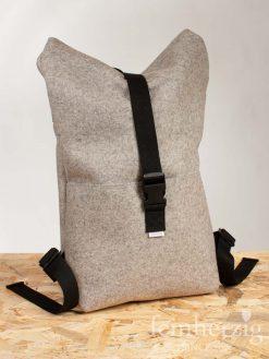 filz-rucksack-hellgrau-meliert-roll-top-backpack-Stockholm-1