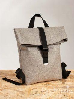 filz-rucksack-hellgrau-meliert-roll-top-backpack-Stockholm-2