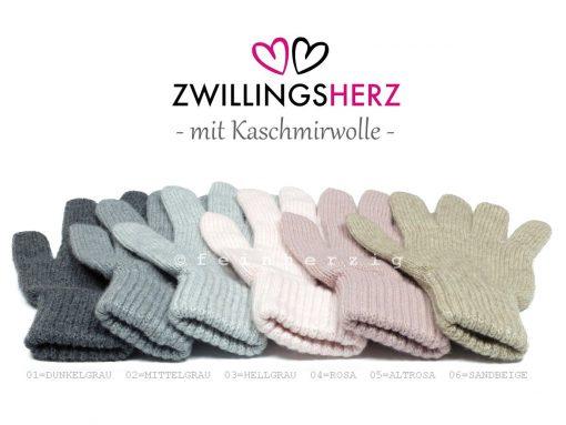 handschuhe-zwillingsherz strick kaschmir cashmere grau rosa beige strickhandschuhe