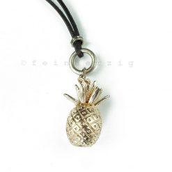 kette ananas lederband anhaenger gold