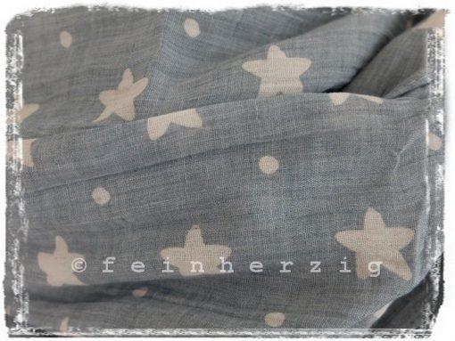 loop-schal-grau-blau-sterne-punkte-leinen-loopschal-2
