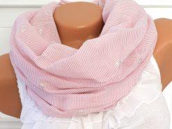 loop schal rosa weiß streifen gestreift anker silber 1