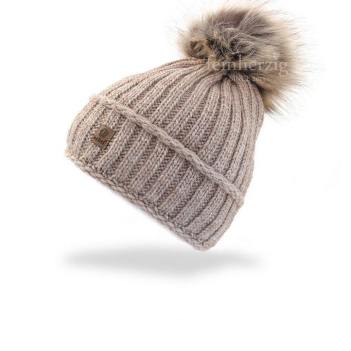 muetze-beanie-bommel-natur-beige-fleece-strick