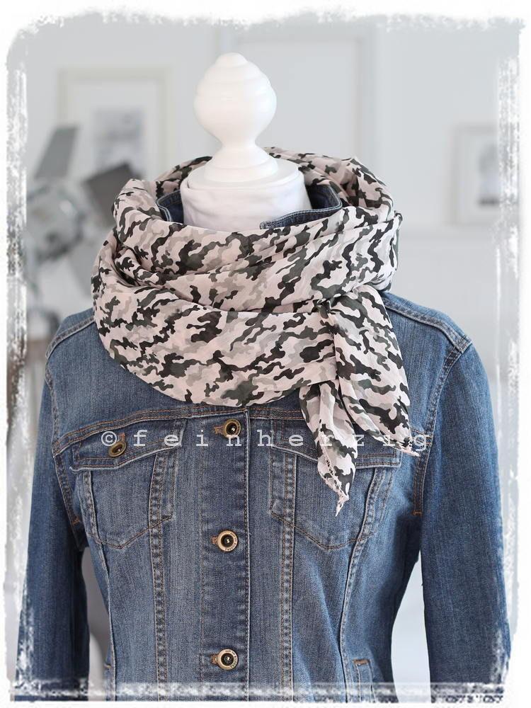 geschickte Herstellung begrenzter Stil so billig Schal Tuch mit Seide ROSA KHAKI Camouflage Tarnmuster