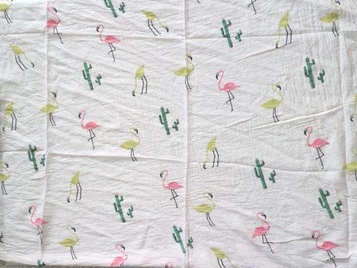 schal tuch flamingo kaktus rosa seide baumwolle halstuch 3