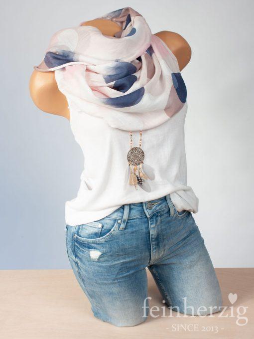 schal-tuch-mit-seide-baumwolle-rosa-tupfen-kreise-bunt-aquarell-1