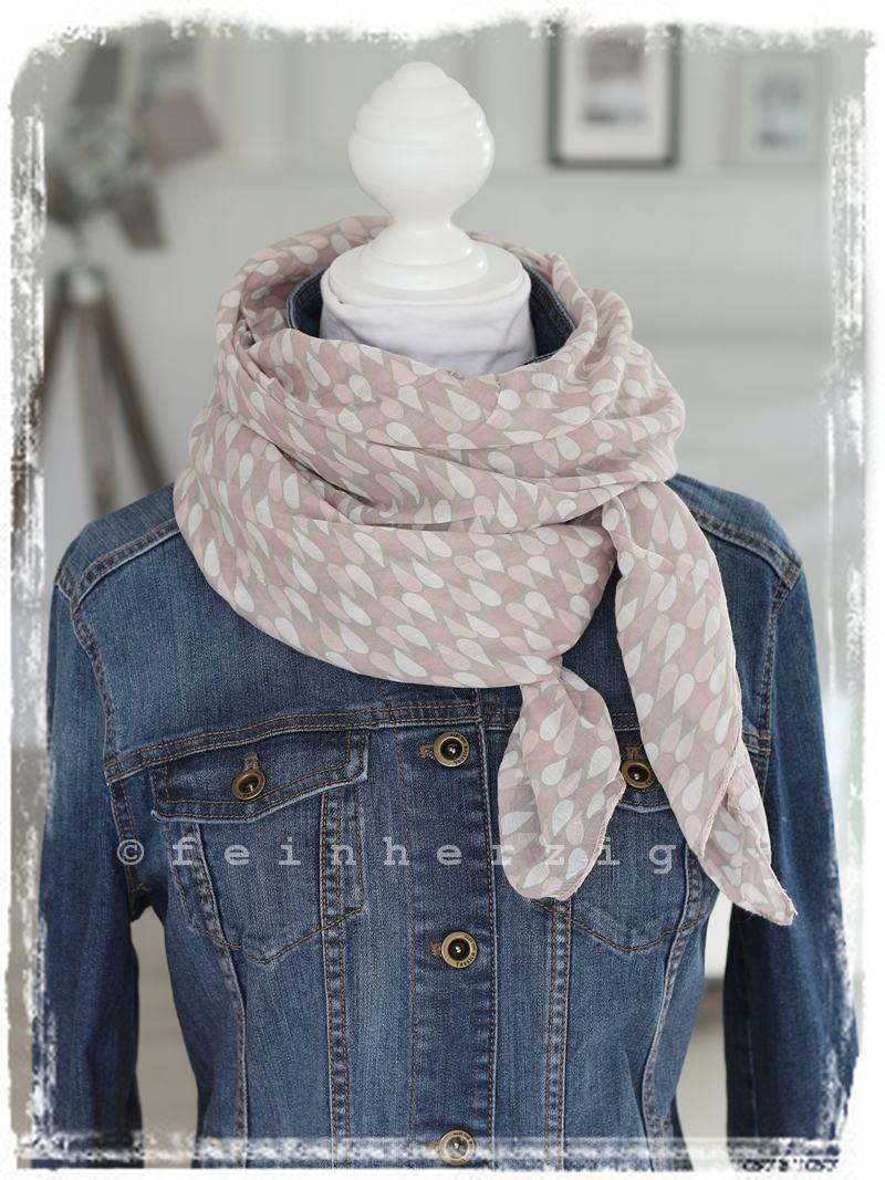schal tuch mit rosa tropfen muster mit seide und weiss halstuch - Schal Muster