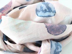 schal tuch seide rosa kreise tupfen gross bunt halstuch 3