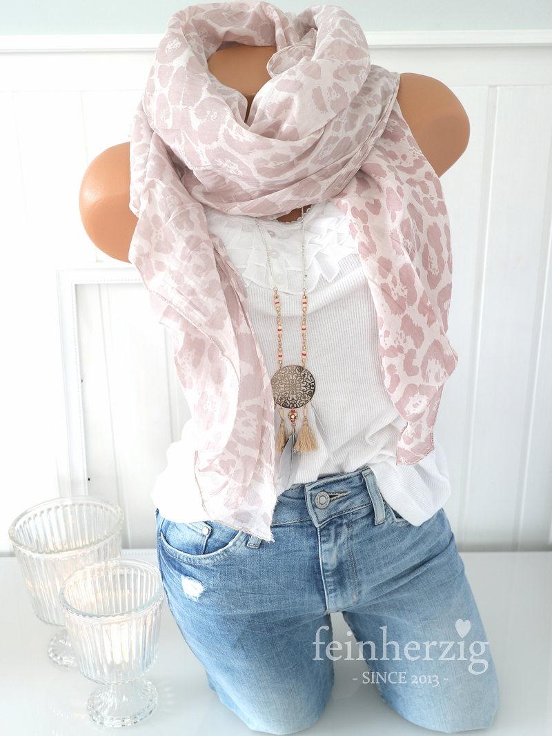 schal tuch mit seide baumwolle rosa leo pastell jetzt. Black Bedroom Furniture Sets. Home Design Ideas