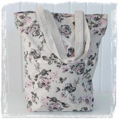 stofftasche rosen beige blass beutel tasche shopper