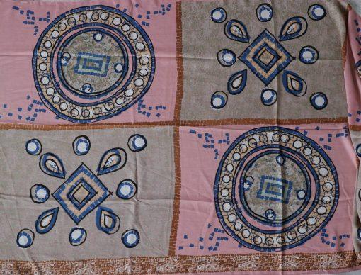 xl schal tuch rosa beige muster print kreise 3
