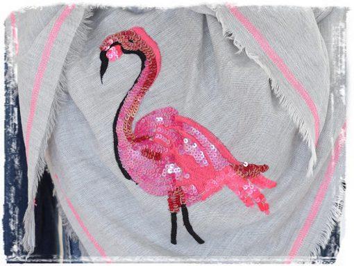 zwillingsherz-dreieckstuch-flamingo-pailletten-pink-rosa-hellgrau-fransen-2